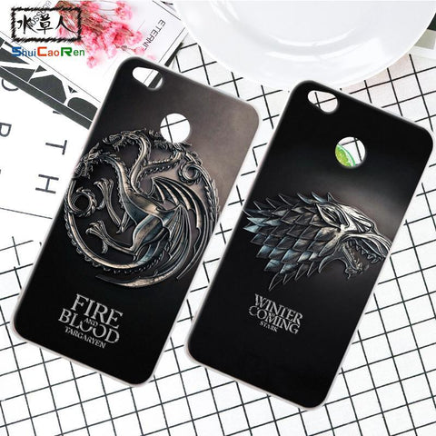 Winter Game of Thrones GOT ShuiCaoRen Silicone Case For Xiaomi Redmi 4A Retra  Cover Phone Coque Ice and Fire Fundas For Redmi 4X AT_77_7
