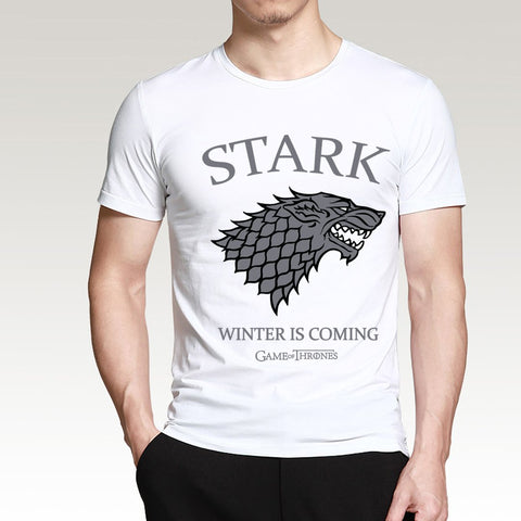 Winter Game of Thrones GOT House Stark Winter Is Coming T Shirts Men 2018 Summer  Men Short Sleeve Shirt Cotton Hip Hop Slim Fit Tops Tees AT_77_7