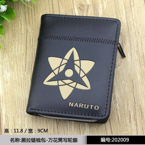 Final Fantasy Cloud Sephiroth kupo New Naruto Uchiha Sasuke Anime Zipper Purse More than 10 Types  Black Wallets to Choose for Collection or Cosplay AT_84_8
