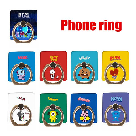 KPOP BTS Bangtan Boys Army New    boys bt21 Fans Club Same Harajuku Style Phone Ring Phone Case Bracket AT_89_10