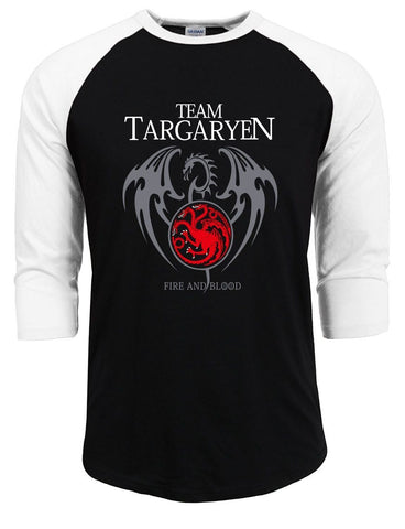 Winter Game of Thrones GOT targaryen homme streetwear  t shirt men 2018 summer raglan sleeve cotton casual t-shirts  hipster tops tee AT_77_7