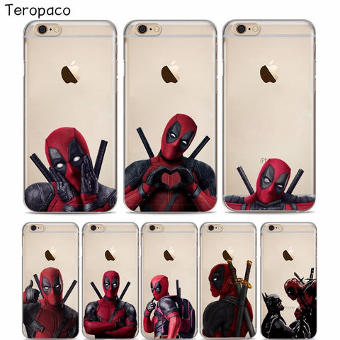 Deadpool Dead pool Taco Super Cool Marvel  Super Hero Soft silicone Phone Case Cover For iphone 8 8Plus 7 7Plus 6 6S 6Plus 5 5S SE AT_70_6