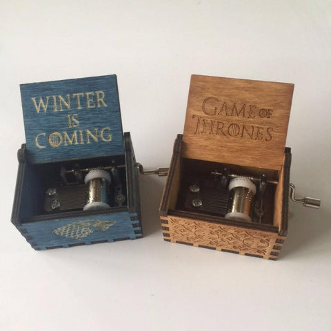 Winter Game of Thrones GOT  Theme Music box Creative Antique carved wooden Musical Boxes Hand operated Type Caixa De Musica   AT_77_7