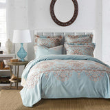 Cool 3pcs Western Bedding Set Queen King Size Comforter Thick Duvet Pillow Cover Light Blue Reactive Printing Home TextileAT_93_12