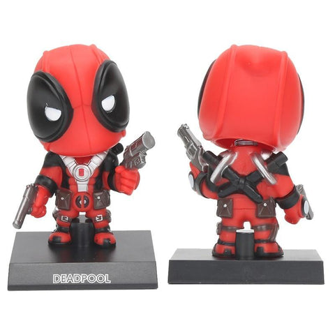 Deadpool Dead pool Taco Marvel the avengers 13cm  Action Figure Bobble Head Shaking Anime Doll Decoration Pvc Collection Model Toy children gift AT_70_6