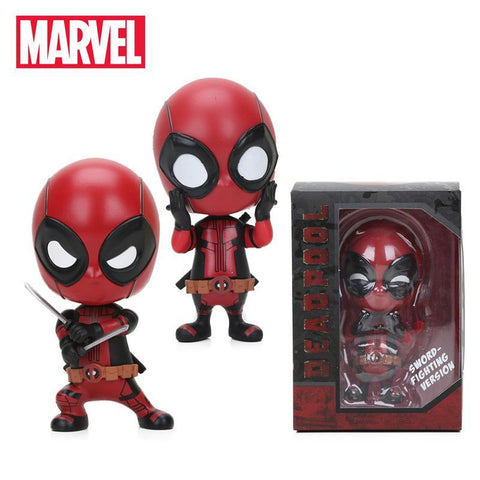 Deadpool Dead pool Taco Mini 10cm Marvel Toys  Figure Bobble-Head 1/10 Scale Pre-painted Spider man Black Panther Collectible Model Dolls Toy AT_70_6