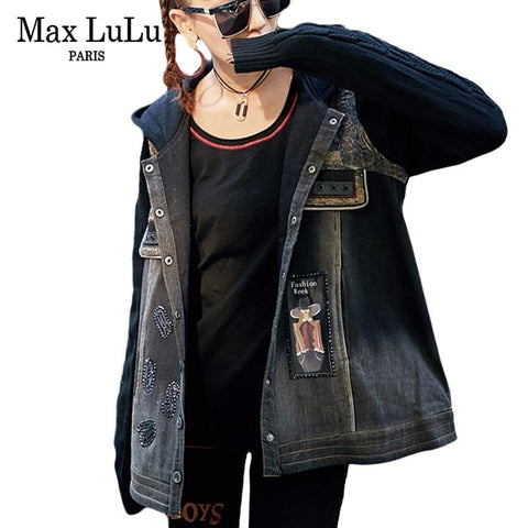 Trendy Max LuLu Luxury Japan Brand Punk Girls Knitted Clothing Womens Denim Winter Jacket Bts Hooded Woman Jeans Coat Jaqueta Oversized AT_94_13