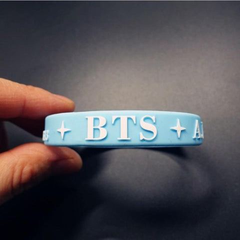 KPOP BTS Bangtan Boys Army  home   Boys silicone bracelet cute wristband 2pieces AT_89_10