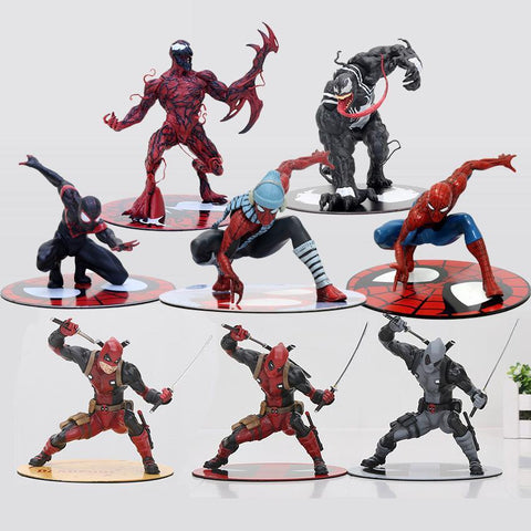 Deadpool Dead pool Taco 11-18cm  Figure Wade Wilson ARTFX  with  CIVIL WAR Venom Carnage spider man PVC Action Figure Model Toys AT_70_6