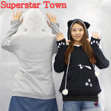 Cat Lovers Hoodies With Cuddle Pouch Mewgaroo Nyangaroo Dog Pet Hoodies For Casual Kangaroo Pullovers With Ears Sweatshirt 3XL - Animetee - 16