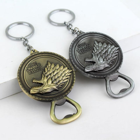 Winter Game of Thrones GOT Movie  Keychain Winter Is Coming Bottle Opener Key Chain Can   AT_77_7