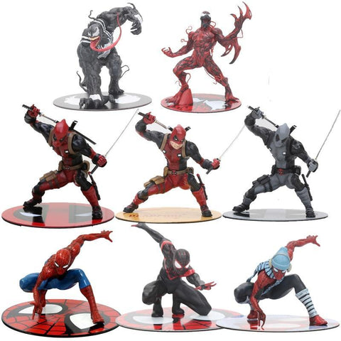 Deadpool Dead pool Taco 12cm The Avengers The Amazing Spiderman Venom  Figure Toy ARTFX 1/10 Scale Statue Collection Model Brinquedos Gift AT_70_6