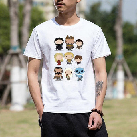 Winter Game of Thrones GOT Summer t shirt men New Arrive Funny tshirt  characters Funny T Shirt for men AT_77_7