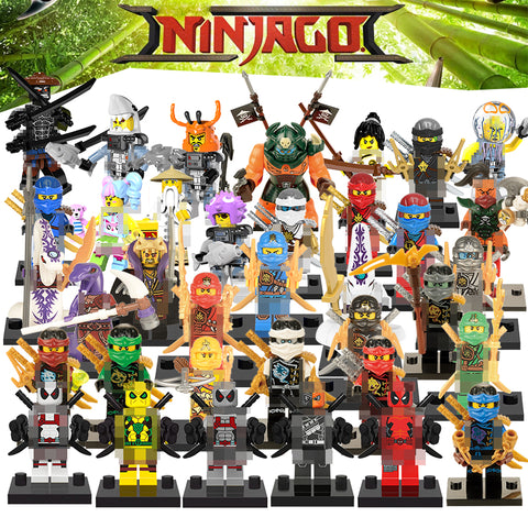 1 Sets NINJA Building Blocks Compatible with Superheroes star wars Kai Jay Cole Zane Nya Lloyd Weapons Action Figure Kids Toys
