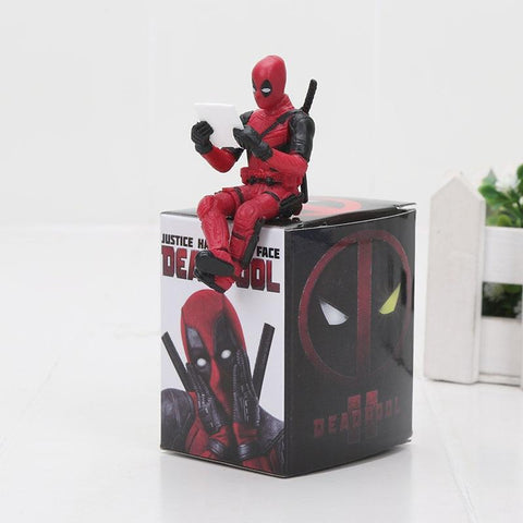 Deadpool Dead pool Taco Marvel Avengers  2 Sitting Yamaguchi Style Joint Anime Action Figures PVC Model Collection Toy AT_70_6