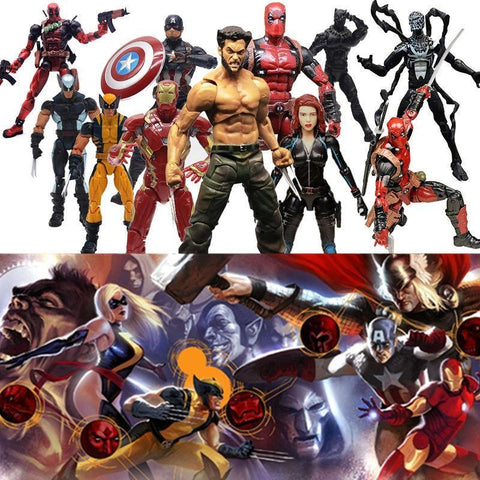 Deadpool Dead pool Taco Marvel Legends Action Figure Pizza Spiderman Spider Man Wolverine  Wade Winston Model Toys for Christmas New Year Gift AT_70_6