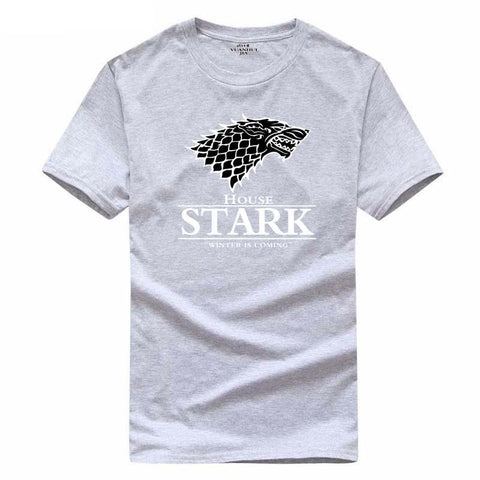 Winter Game of Thrones GOT  Wolf T-shirt summer O-neck 100%cotton fashion mens t shirts  Winter is coming Fitness mens coat clothing AT_77_7