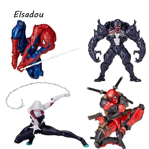 Deadpool Dead pool Taco Marvel Super Hero FIGMA Series NO.001 Spiderman  2 Gwen Edward Eddie Brock Venom Action Figures Toy Doll AT_70_6