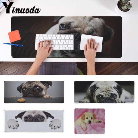 Yinuoda New Printed pink pugs dogs Laptop Gaming Mice Mousepad Size for 180*220 200*250 250*290 300*900 and 400*900*2mm