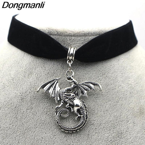 Winter Game of Thrones GOT M210 Dongli    A Song  Ice and Fire  Targaryen Dragon Necklace New Necklace AT_77_7