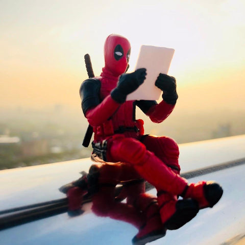 Deadpool Dead pool Taco  Sitting Posture Model Anime X-Men Mini Doll Decoration Pvc Collection Figurine Toys For Boys 7cm AT_70_6