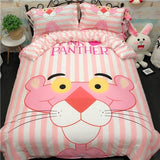 Cool Cotton Bedding Sets Cartoon Hello Kitty 4pcs Duvet Cover Bed Sheet Pillowcase Soft pink white strawberry king queen size Bed SetAT_93_12