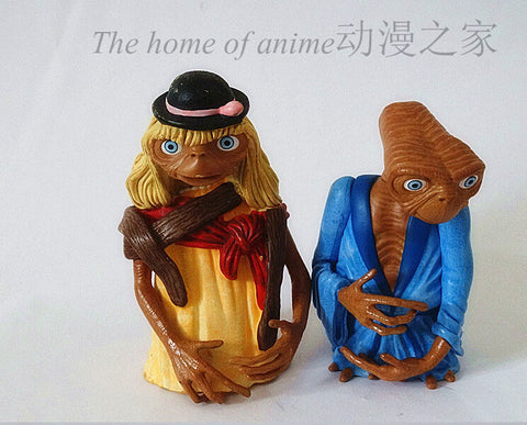 2pcs/set the Extra-Terrestrial ET E.T. Action Figures Anime PVC brinquedos Collection Figures toys for Birthday gifts - Animetee