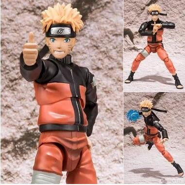 15cm Naruto Shippuden Uzumaki Naruto Action Figures Anime PVC brinquedos Collection Model toys with Retail box Free shipping - Animetee