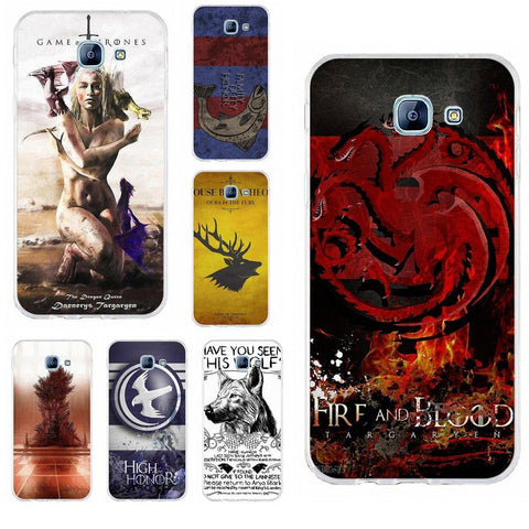 Winter Game of Thrones GOT Perciron St TPU Mobile Cases Covers s  s White Wolf For Samsung Galaxy A3 A5 A7 J1 J2 J3 J5 J7 2015 2016 2017 AT_77_7
