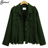 Trendy Emitiral Plus Size 5XL Autumn Winter Women Jackets 2017 Long Sleeves European Female Coat Casual Loose Army Green Women Outwear AT_94_13