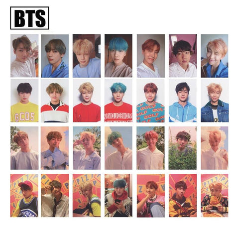KPOP BTS Bangtan Boys Army home  Love Yourself Album Same Exquisite fashion Message card little picture four styles a set of  7 pieces AT_89_10