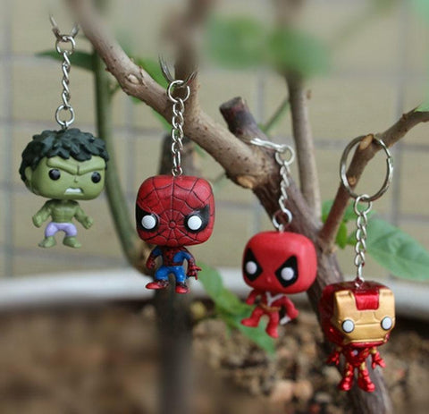 Deadpool Dead pool Taco 4pcs/lot The avengers 3 Infinity War Superheros Hulk Ironman Spiderman  action figurines pocket keychain  toys for boys AT_70_6
