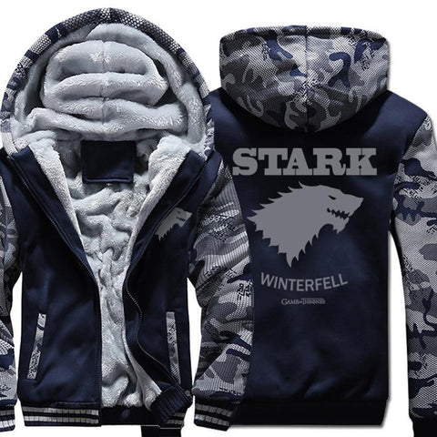 Winter Game of Thrones GOT wool liner warm tracksuit men Camouflage color 2018  hoodies coats thick sweatshirt jacket zipper brand clothing AT_77_7