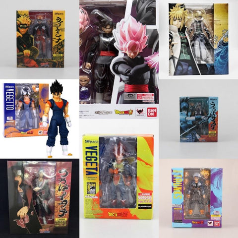 Dragon ball Dragonball capsule  Z Naruto Barman Spiderman Action Figure SHF Uzumaki Naruto Goku Vegeta Trunks Vegetto Model Toy joint Movable AT_85_9