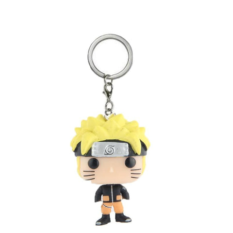 Naruto Sasauke ninja Japanese Cartoon  Action Figures Children Toy Keychain With Retail Box AT_81_8
