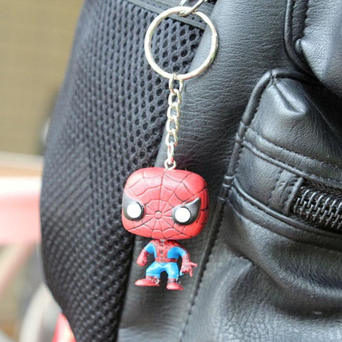 Deadpool Dead pool Taco The Avengers super hero action figuras iron man spiderman hulk   ironman car keychain toys pocket key rings toy for boys AT_70_6