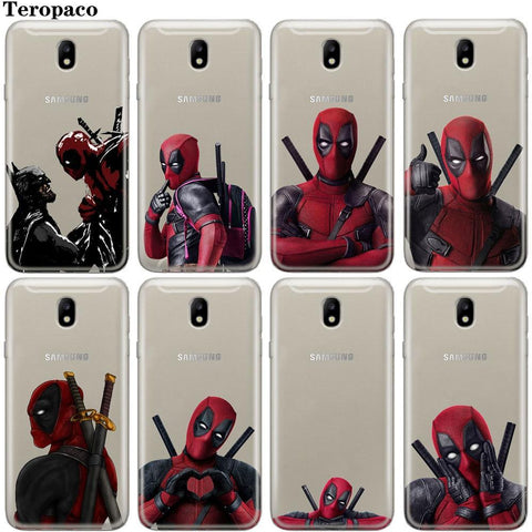 Deadpool Dead pool Taco Super Cool Marvel  Soft Case For Samsung Galaxy Prime S6 S7 Edge S8 S9 Plus J3 J5 J7 A3 A5 A7 2016 2017 A8 Plus 2018 AT_70_6