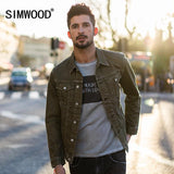 Trendy SIMWOOD 2018 Autumn Denim Jacket Men Slim Fit Coats Fashion Vintage Brand Clothing 100% Pure Cotton Plus Size Jean Jacket 180061 AT_94_13