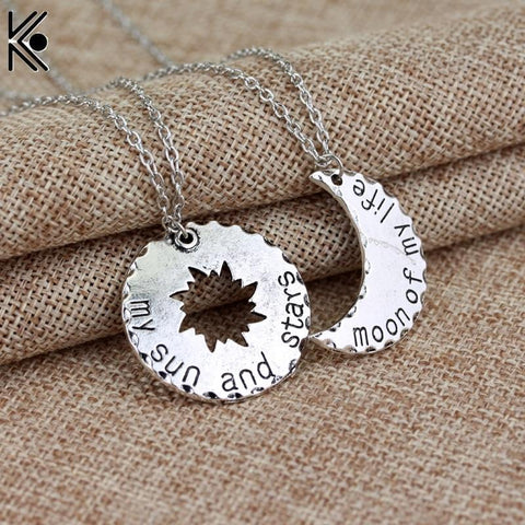 Winter Game of Thrones GOT  Khaleesi Drogo Pendant Necklace My Sun And Stars moon  My Life maxi necklace LOVE  jewelry Valentine's gift AT_77_7
