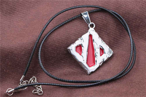 2015 Hot Network Game Dota 2 Sign Pendant Necklace Enamel Necklace DOTA 2 Roshan Shield Pendants Necklace - Animetee - 2