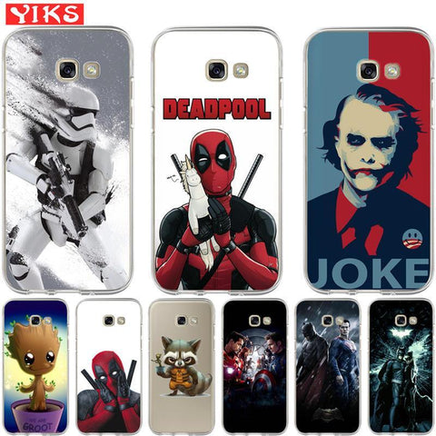 Deadpool Dead pool Taco Raccoon Joker  Case For Coque Samsung Galaxy A3 A5 A7 A8 2015 2016 2017 2018 Cover Case Soft Phone Case shell Skin Etui AT_70_6