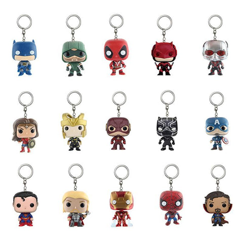 Deadpool Dead pool Taco Marvel and DC Super Hero Key Chain Batman  Wonder Woman Thor Superman Iron Man Action Figure Toy Doll With Retail Box AT_70_6