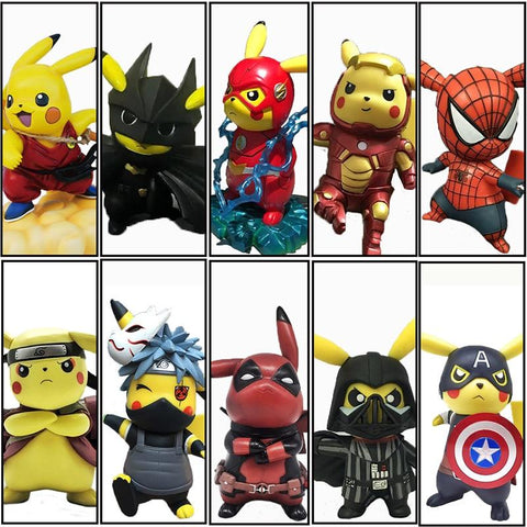 Dragon ball Dragonball capsule Original Boxed Funny Pikachu Cosplay Naruto Avengers Deadpool Spiderman  Mario Action Figures 14cm PVC Model Toy AT_85_9