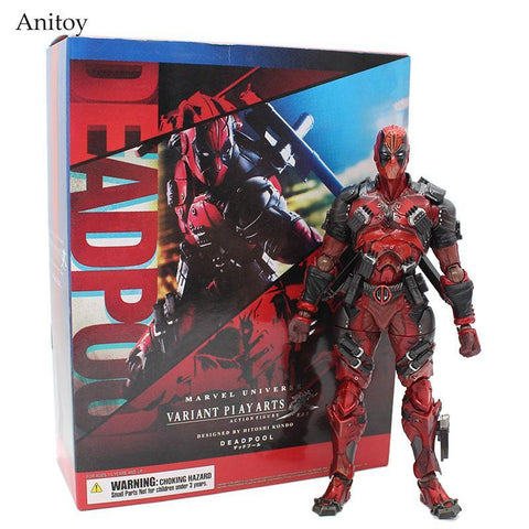 Deadpool Dead pool Taco  Figure X-Men Marvel Universe Variant Play Arts Kai   PVC Action Figure Collectible Model Doll Toy 26cm AT_70_6