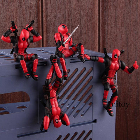 Deadpool Dead pool Taco Marvel Heroes Toys  2 Mini PVC Action Figure  Collectible Model Toy Car Computer Screen Decoration Doll 6 Types AT_70_6