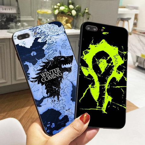Winter Game of Thrones GOT  Cases for iPhone 6 6S 5 5S SE 7 Case World  Warcraft St TPU Silicone Phone Cover for iPhone 8 Plus X Coque AT_77_7
