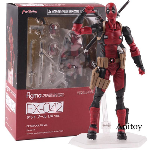 Deadpool Dead pool Taco Figma  Action Figure EX-042 DX Ver. MAXFACTORYXMASAK APSY PVC Collectible Model Toy 14.5cm KT4792 AT_70_6