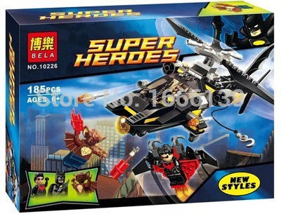2016 hot sale Bela super hero Batman Helicopter Building Block 10226 children's gift free shipping Compatible With Lego LR-122 - Animetee