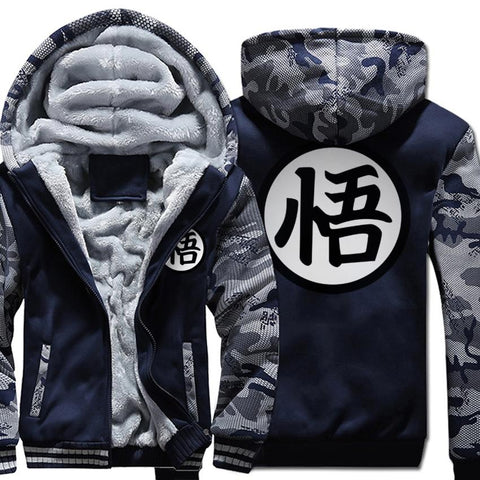 Dragon ball Dragonball capsule Hoodies funny  SON kpop Hooded men wool liner Camouflage color fleece Thicken Zipper Jacket coats 2018 male tracksuit AT_85_9