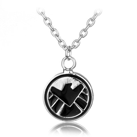 "Super hero Teenage Mutant Ninja Turtles Agents of Shield S.H.I.E.L.D superman deadpool Pendant With 18"" Silver Plated Necklace"